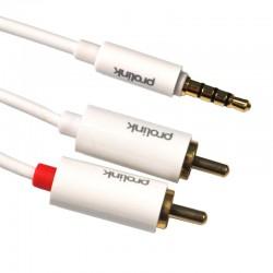 Kabel JACK 3.5 STEREO - 2 RCA MediaPro MP 147 2 m