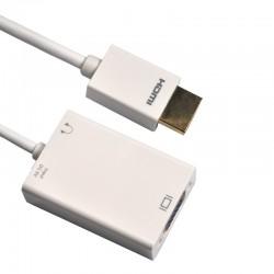 Przejście HDMI - VGA+JACK 3.5 STEREO MediaPro MP 299A 0.15 m