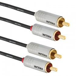 Kabel 2RCA - 2RCA FUTURA SLIM FSL 201 1m