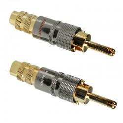 Wtyk RCA Premium TBC 050