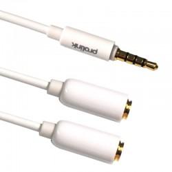 Przejście JACK 3.5 - 2 x gniazdo JACK 3.5 STEREO MediaPro MP 155 0.2 m