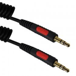 Kabel SPIRALNY JACK 3.5 - JACK 3.5 STEREO CLASSIC CL 233 0.8 m