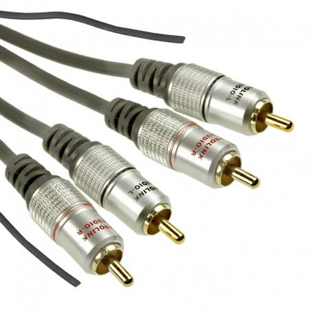 Kabel 2RCA - 2RCA + TCV 4290